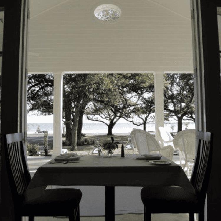 The Chimneys restaurant overlooking the gulf