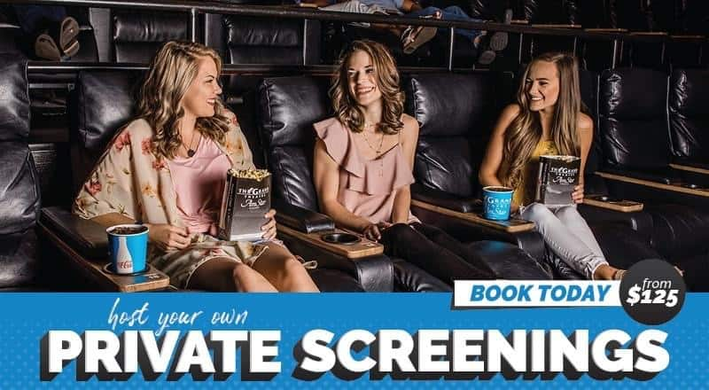 Private screenings at movie theater