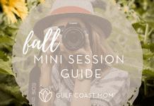 Photography guide Fall Mini sessions Gulf Coast mom