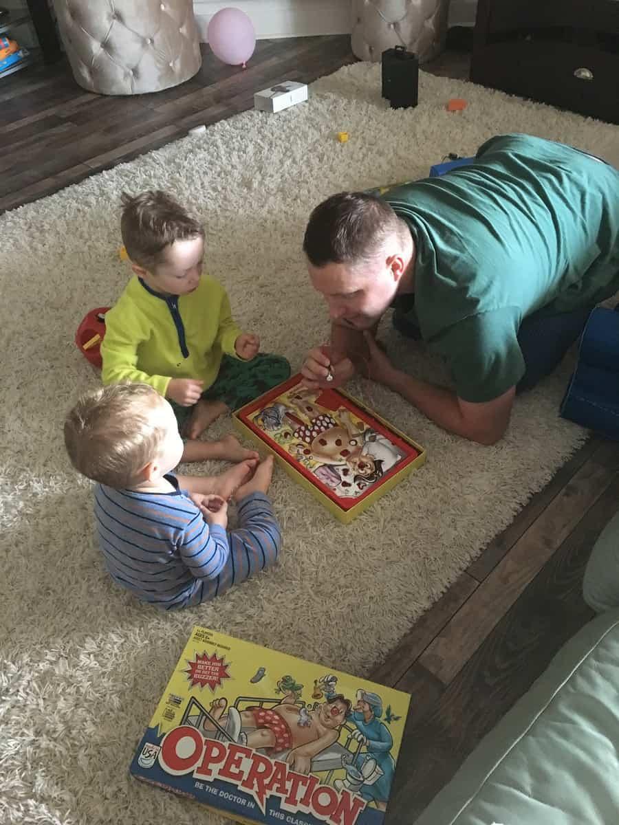 Dad playing games