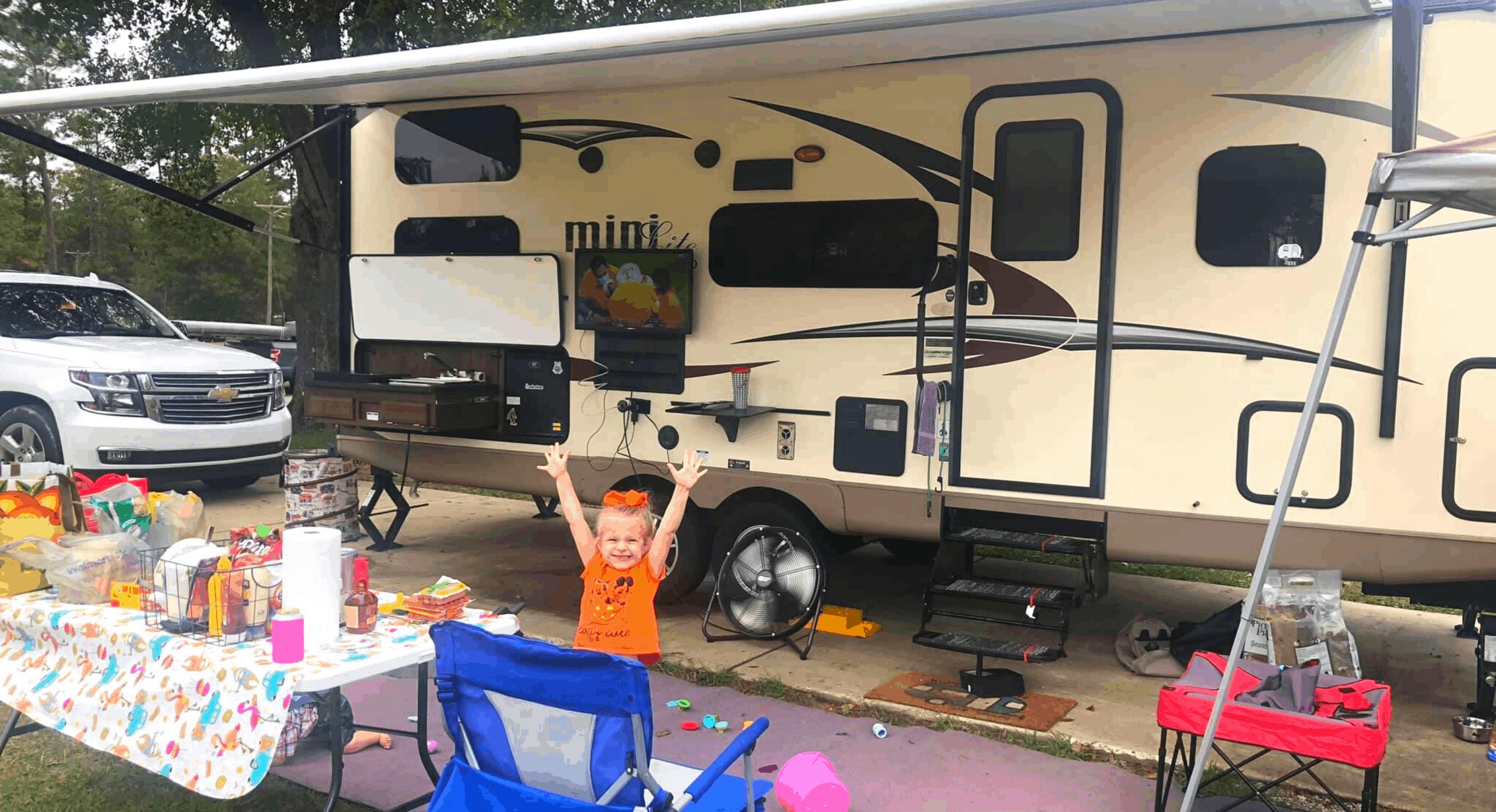 Little girl Camping