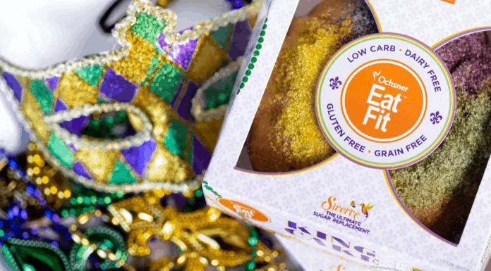 Eat Fit king cake Mardi Gras