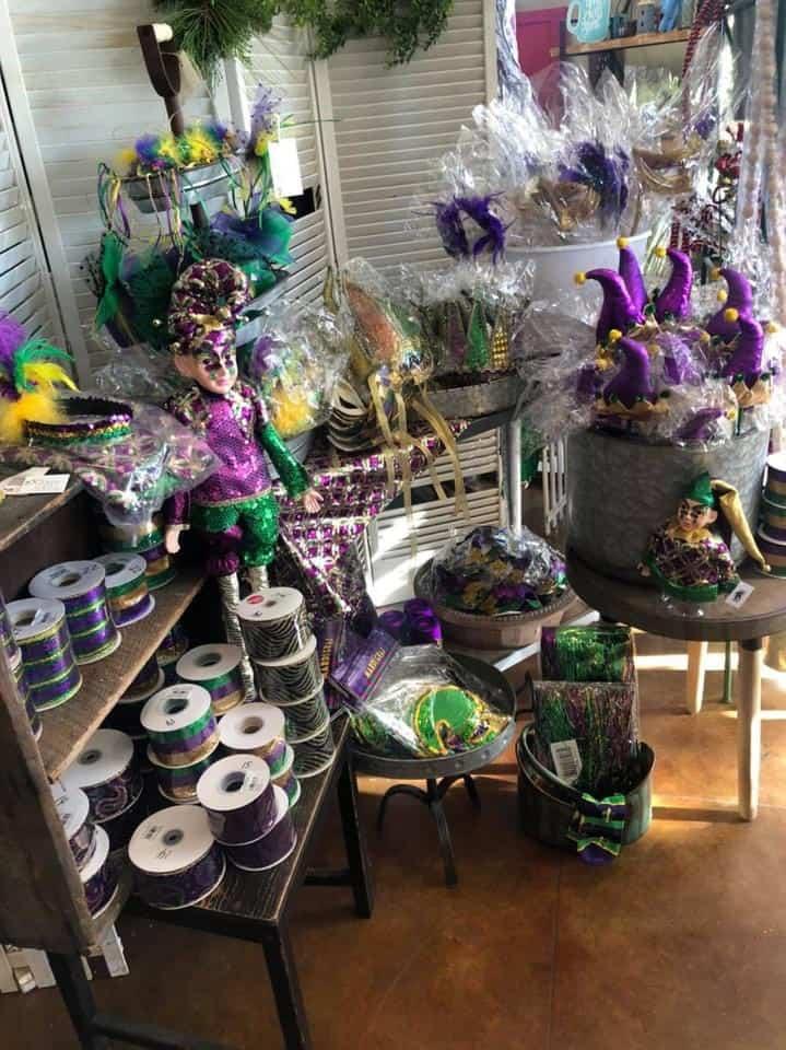 Decorations for Mardi Gras. Photo credit: Sadie Jane's