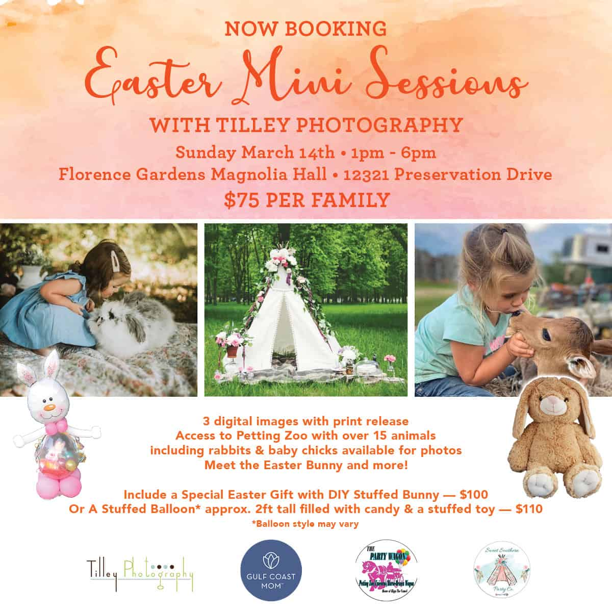 Easter mini sessions and petting zoo