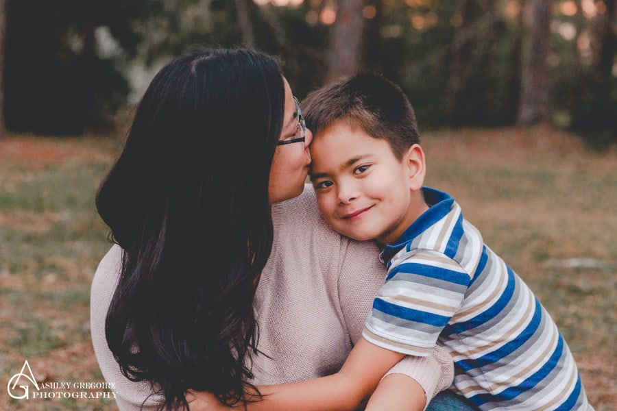 Boy and mom for National single parents day
