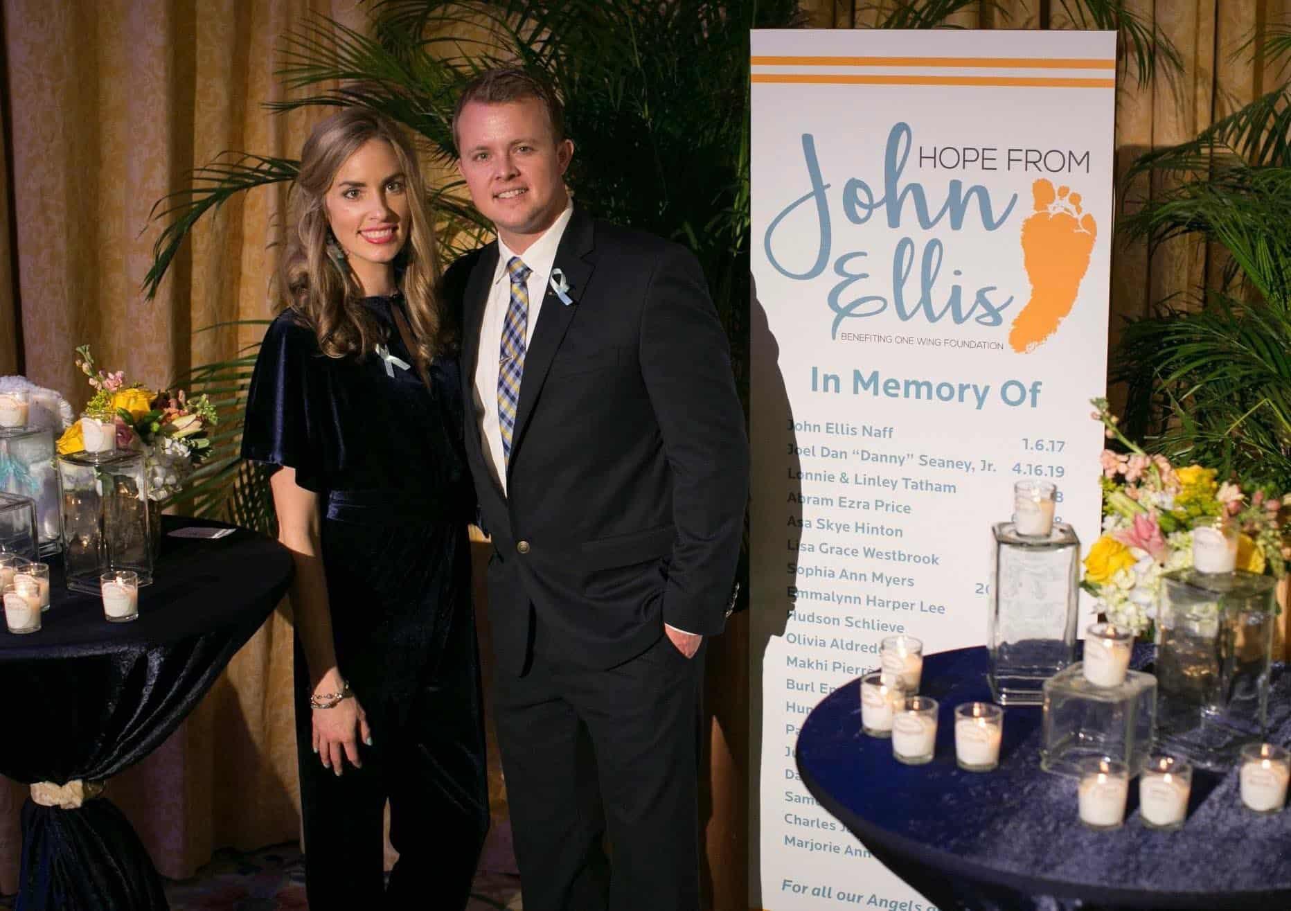 Couple at John Ellis benefit