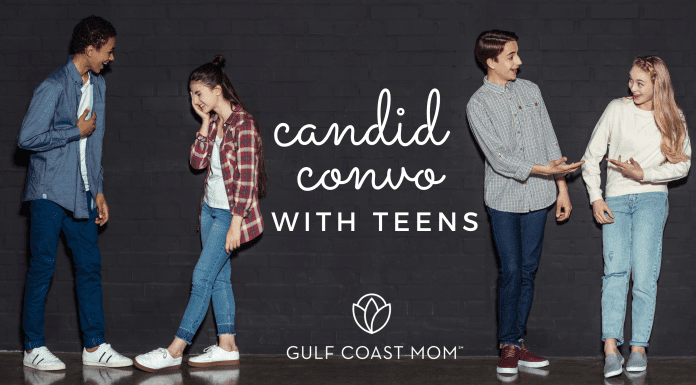 Candid convo with teens Gulf coast mom