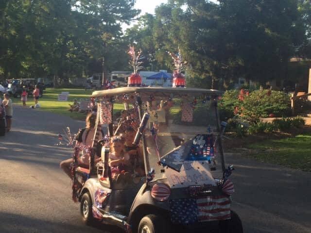 Presley's outing Golf cart parade