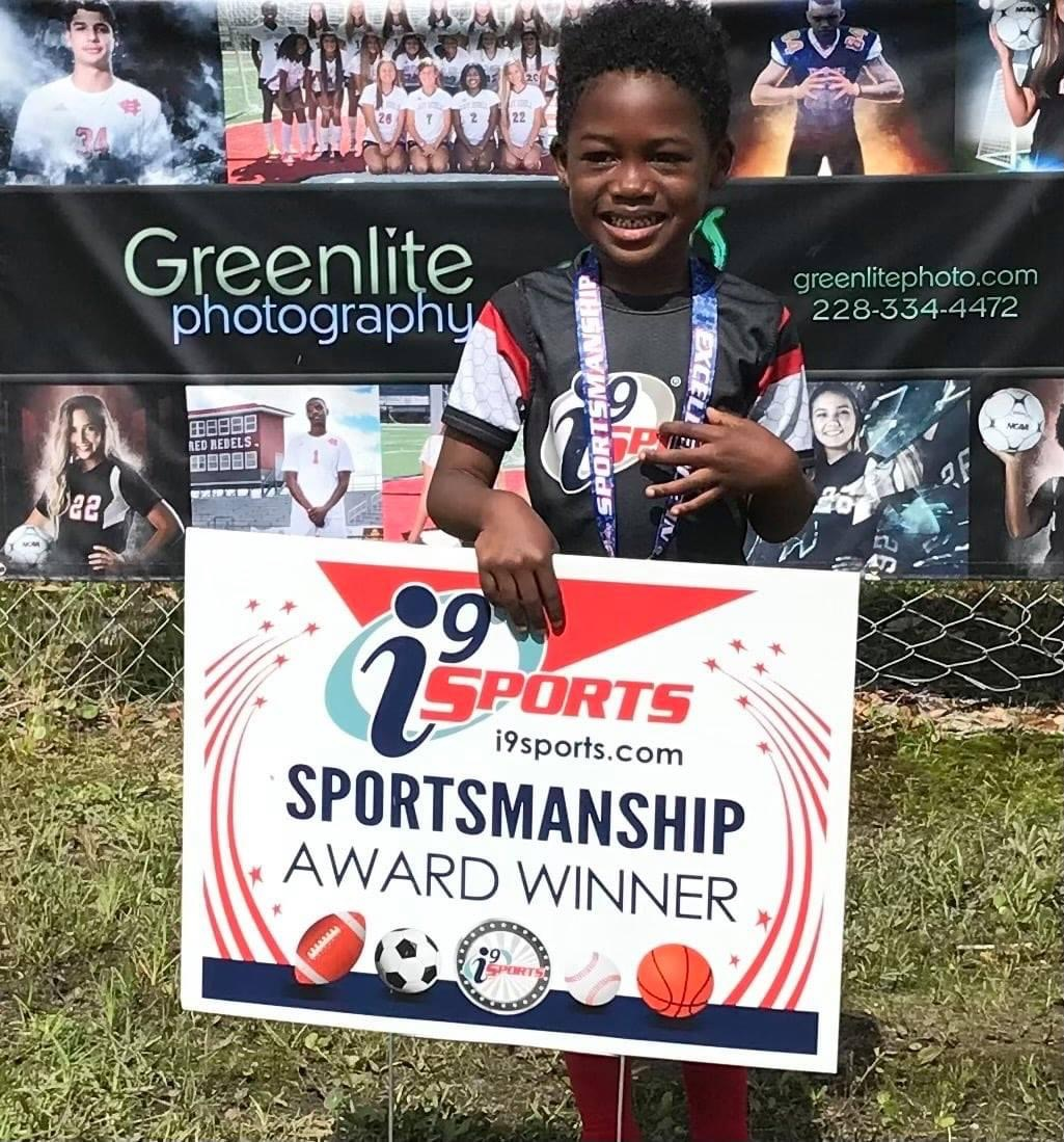 Child with Sportmanship award