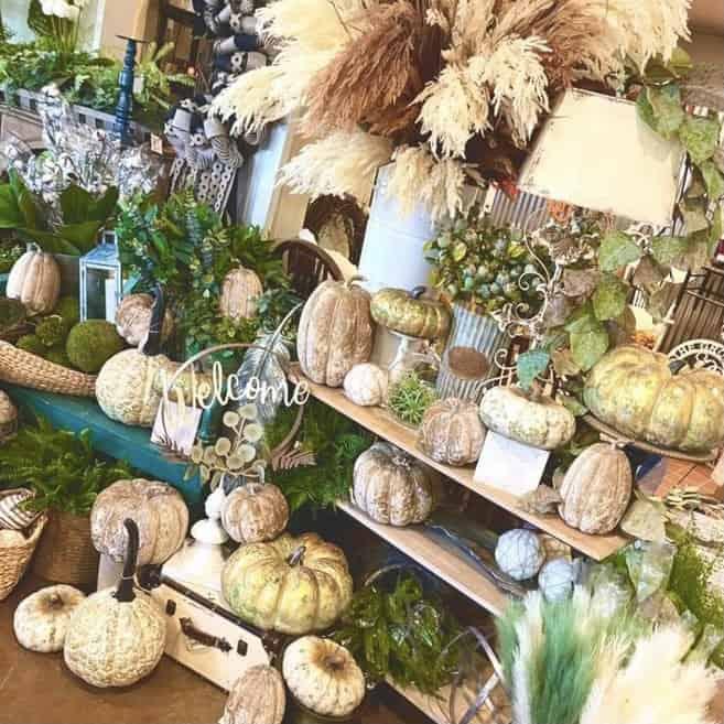 Pumpkins at Sadie Jane's wreath store