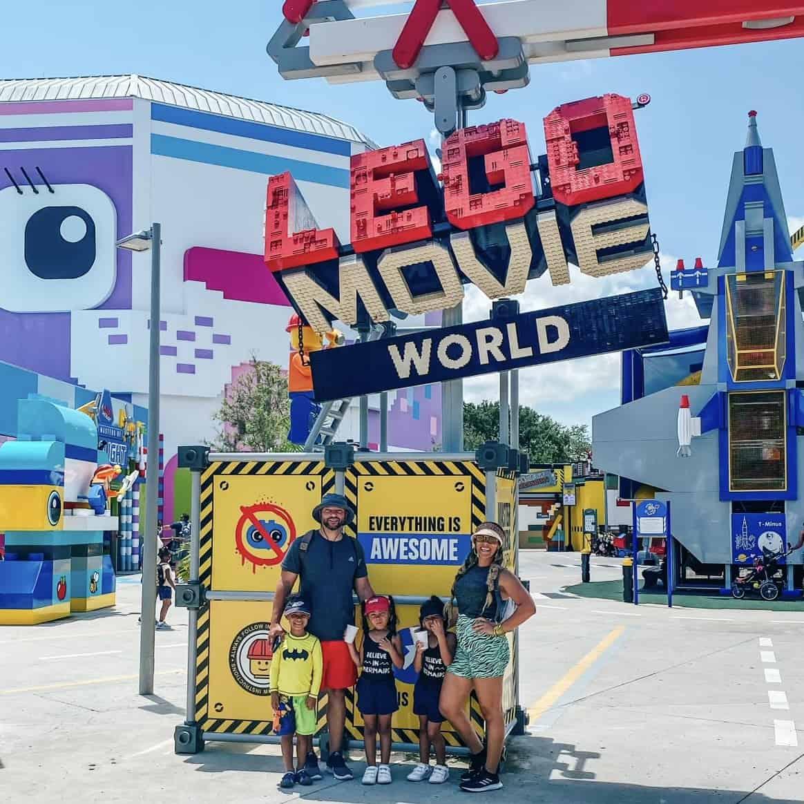 Family at Legoland moms love to visit Orlando