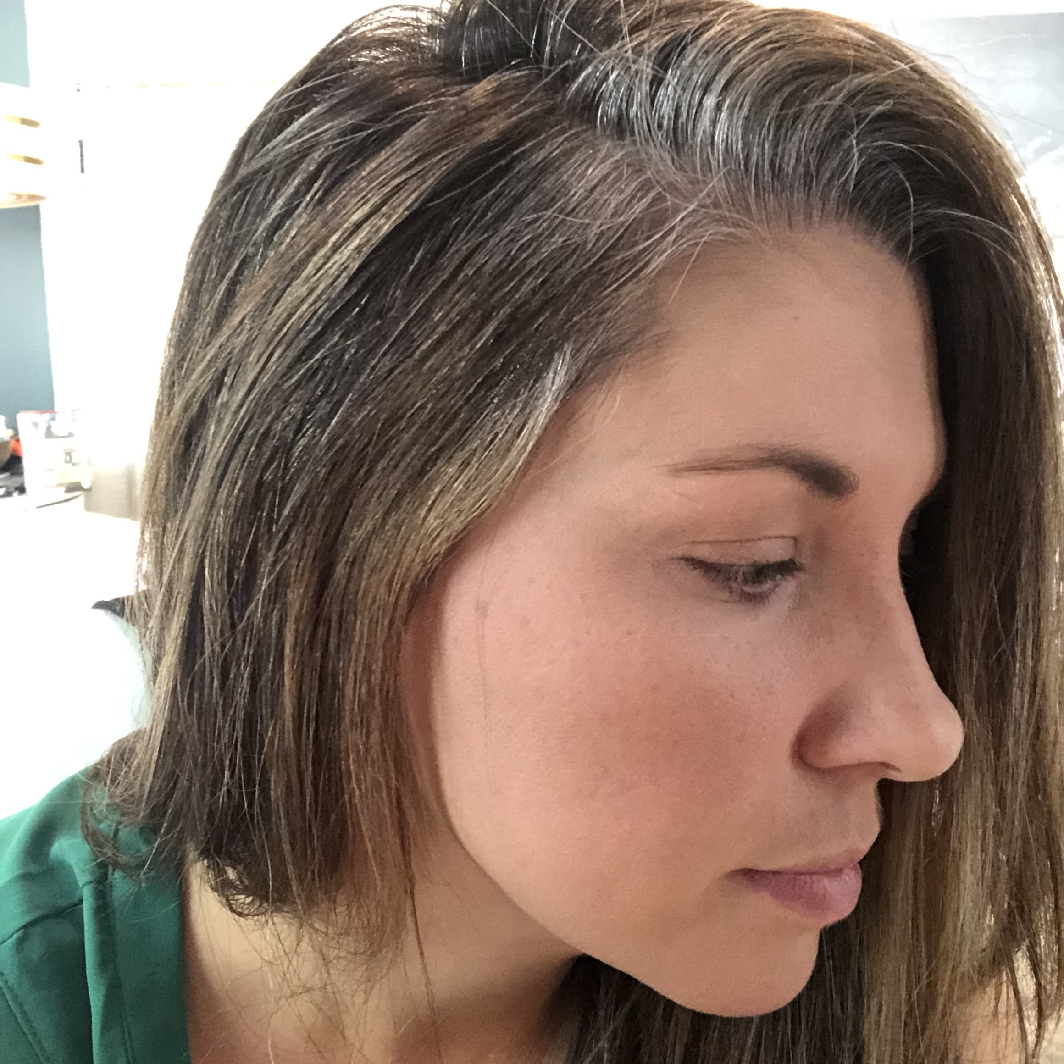 Mom letting hair go gray