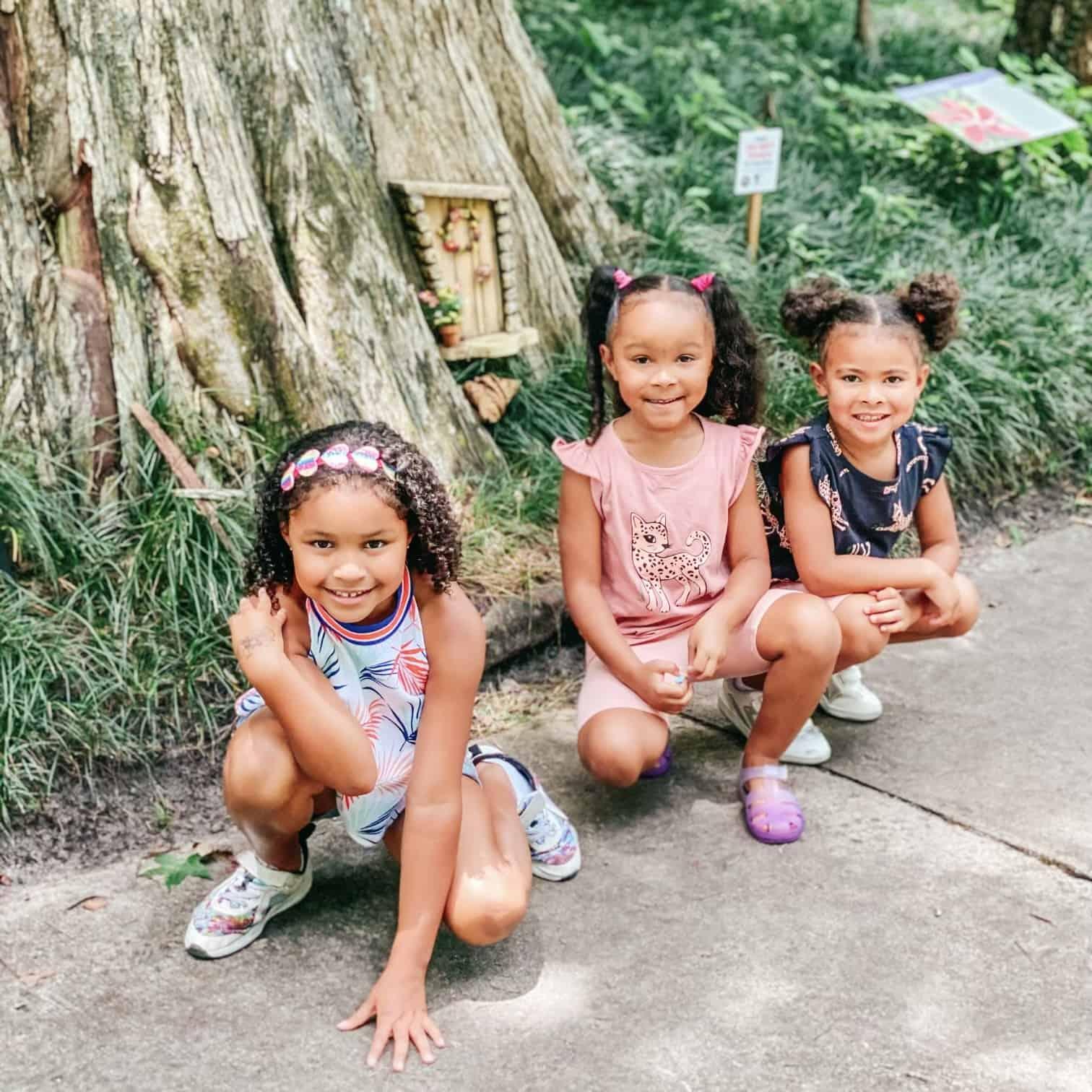 Children at Leau Garden fairy castle