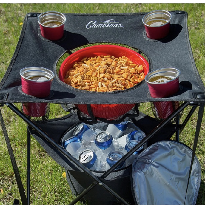 Collapsible Table with snacks