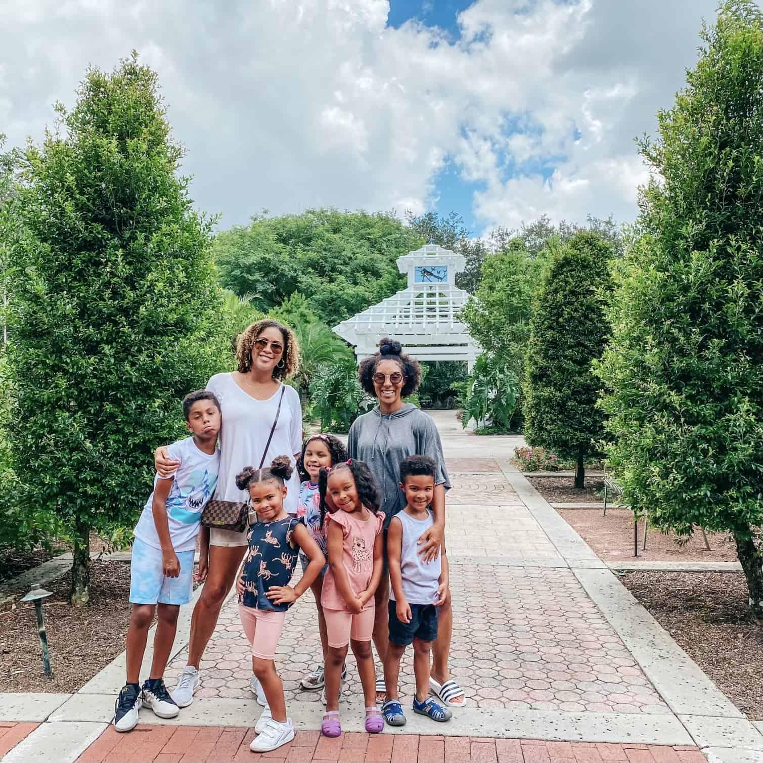 Family at Harry P LEAU Gardens gulf coast moms love to visit Orlando