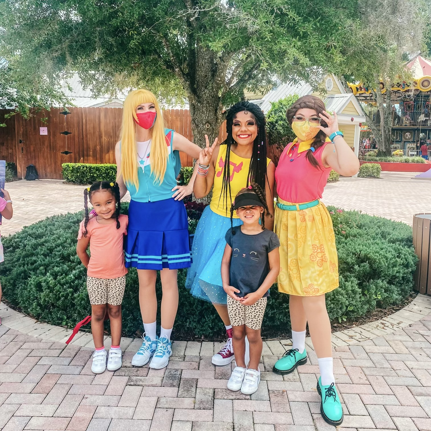 Children with characters from LEGOLAND Visit Orlando